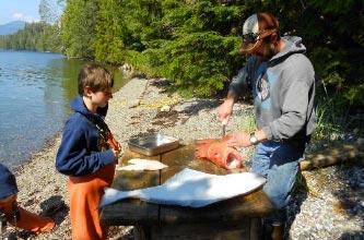 pesca y cena